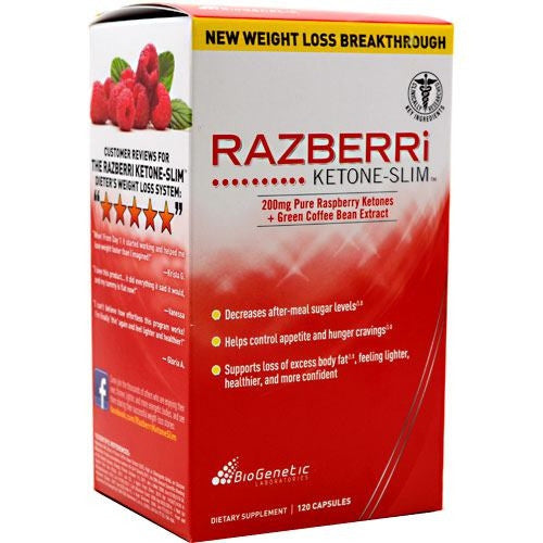 BioGenetic Laboratories Razberri Ketone-Slim - 120 Capsules - 883488002595