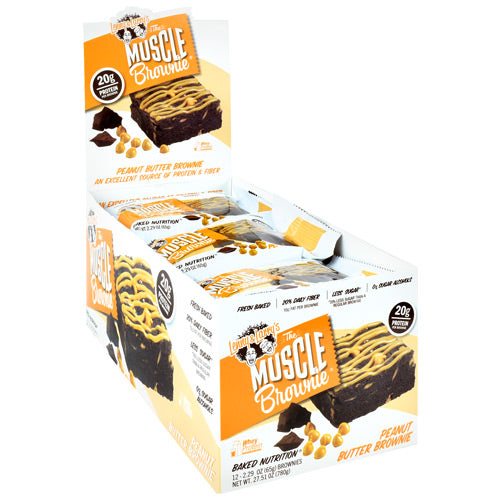 Lenny & Larrys The Muscle Brownies - Peanut Butter - 12 ea - 787692835171