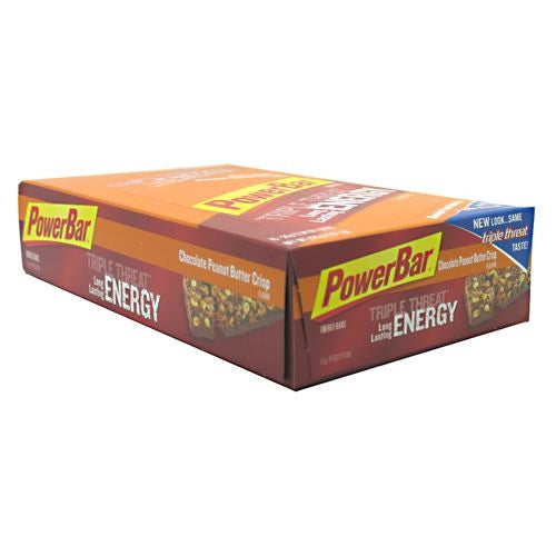 PowerBar Triple Threat Energy Bar - Chocolate Peanut Butter Crisp - 15 Bars - 097421090703