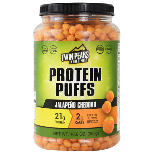 Twin Peaks Ingredients Protein Puffs - Jalapeno Cheddar - 10 Servings - 850000796010