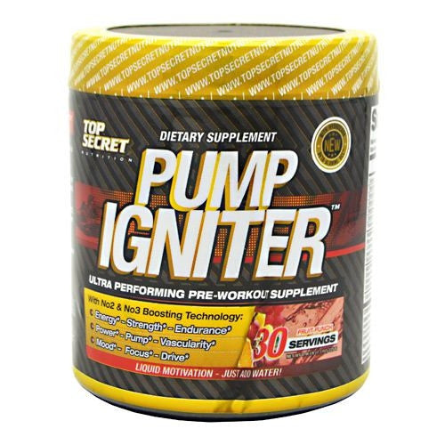 Top Secret Nutrition Pump Igniter - Fruit Punch - 30 Servings - 811226020150