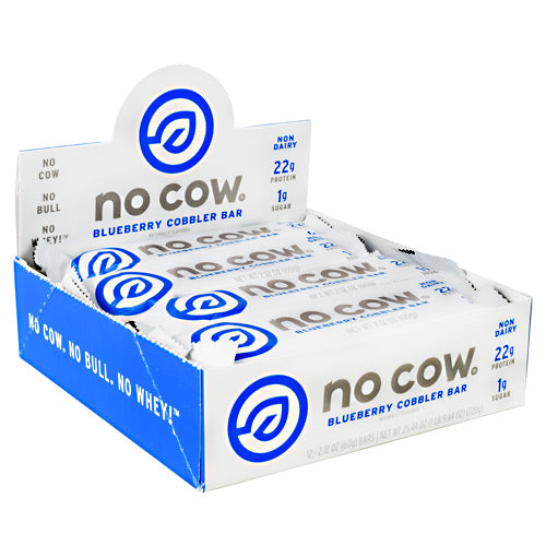 No Cow No Cow Bar - Blueberry Cobbler - 12 Bars - 852346005047