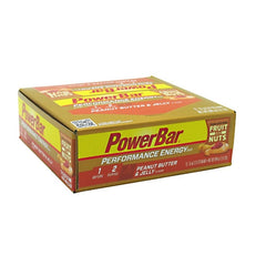 PowerBar Performance Energy Fruit & Nuts Bar - Peanut Butter & Jelly - 12 Bars - 097421696226