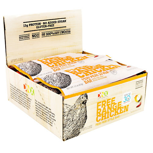 DNX Bars Free Range Chicken Bar - Peri Peri Style - 12 Bars - 685239665345