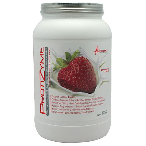 Metabolic Nutrition Protizyme - Strawberry Creme - 2 lb - 764779329181