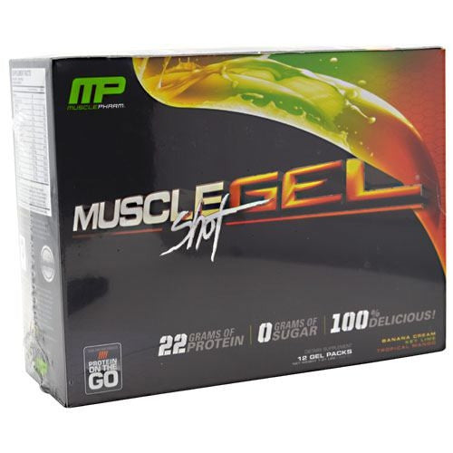 Muscle Pharm MuscleGel Shot - Variety - 12 ea - 736211991812