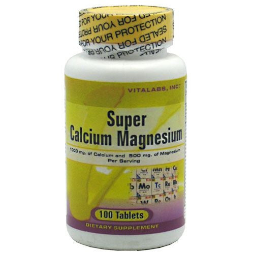 Vitalabs Super Calcium Magnesium - 100 Tablets - 092617018417