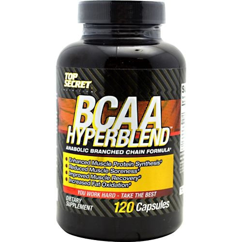 Top Secret Nutrition BCAA Hyperblend - 120 Capsules - 858311002776