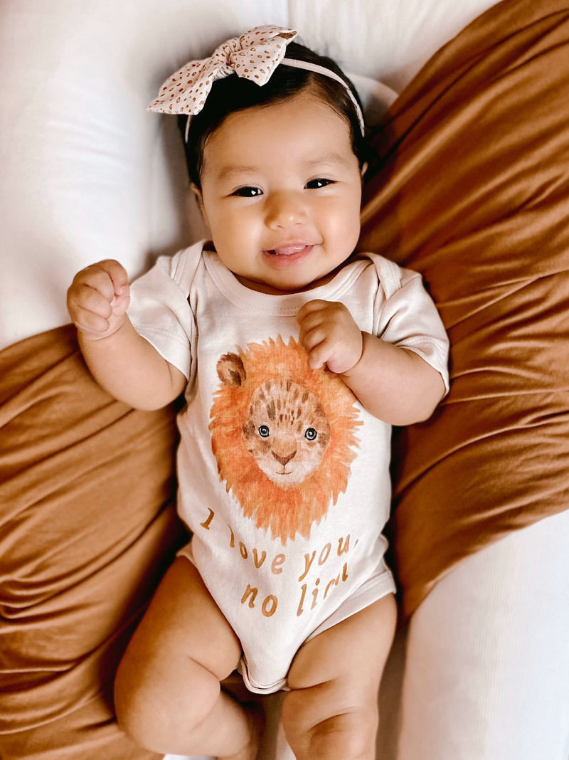 I Love You No Lion Organic Baby Onesie®