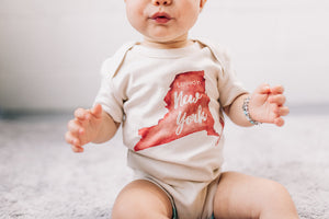 Loved in New York Organic Baby Onesie