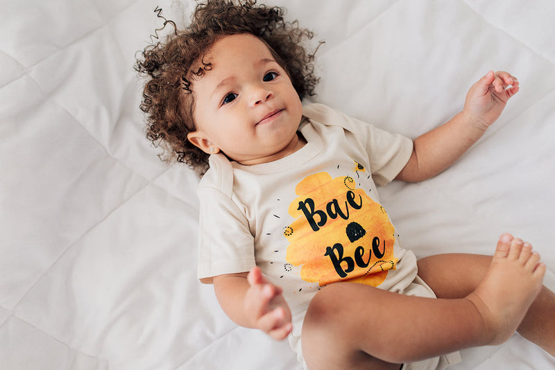 Bae Bee Bumblebee Honey Organic Baby Onesie® - Urban Baby Co.