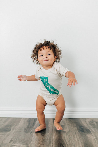 Loved in California Organic Baby Onesie®