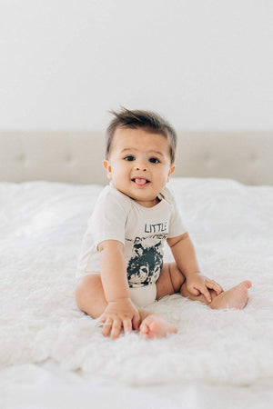 Little Brother Wolf Organic Baby Onesie