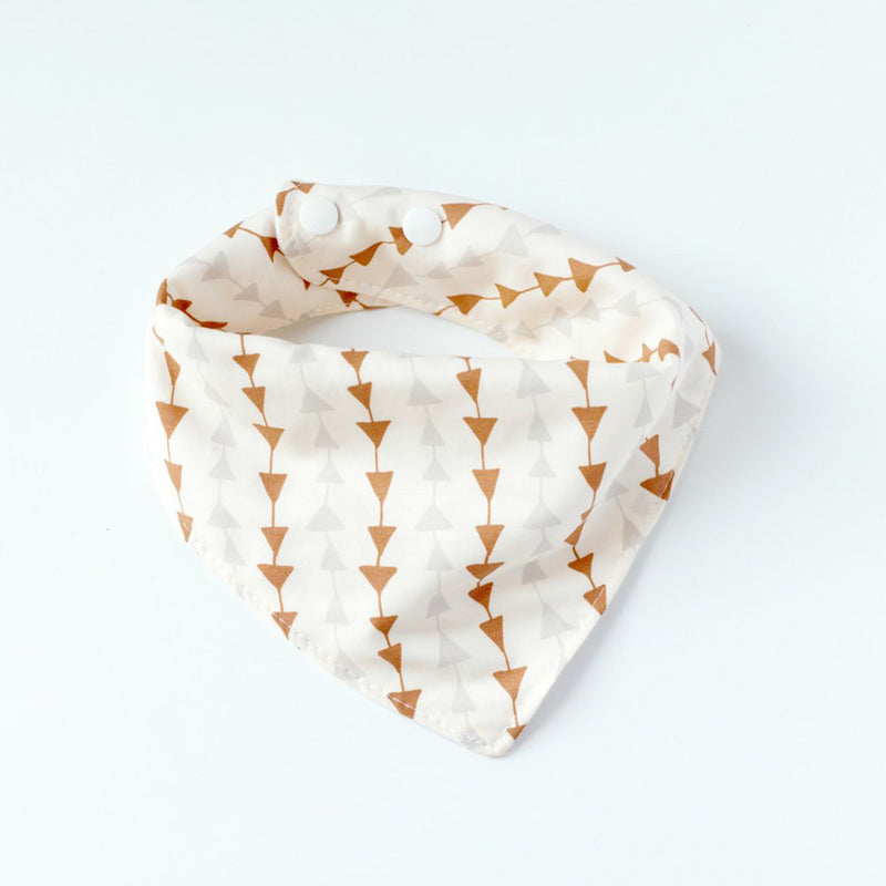 Trail Walk Chevron Triangle Muslin Bandana Bib