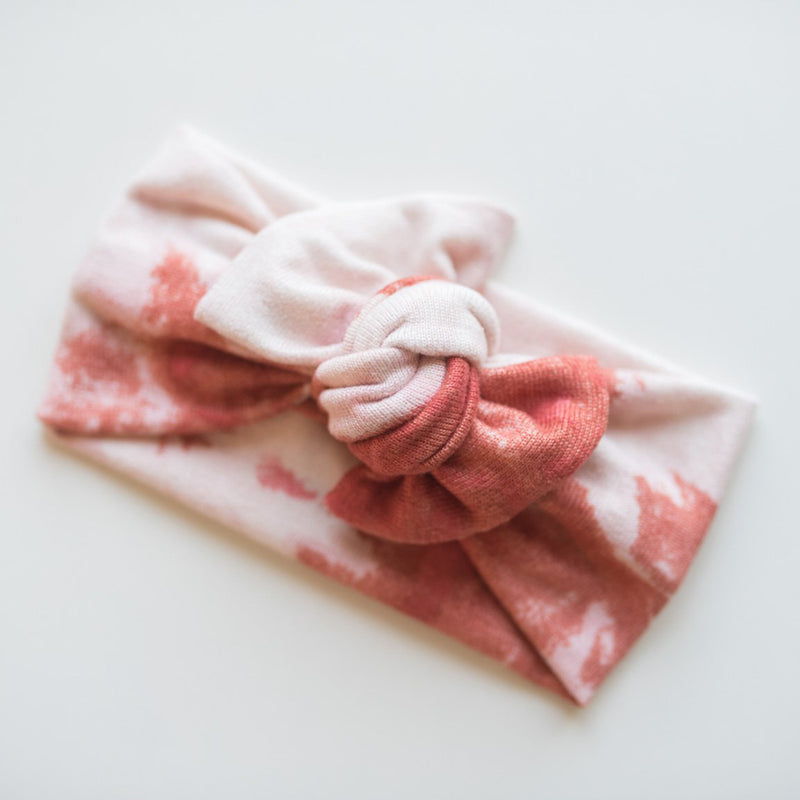 Top Knot Headwrap - Red Tie Dye