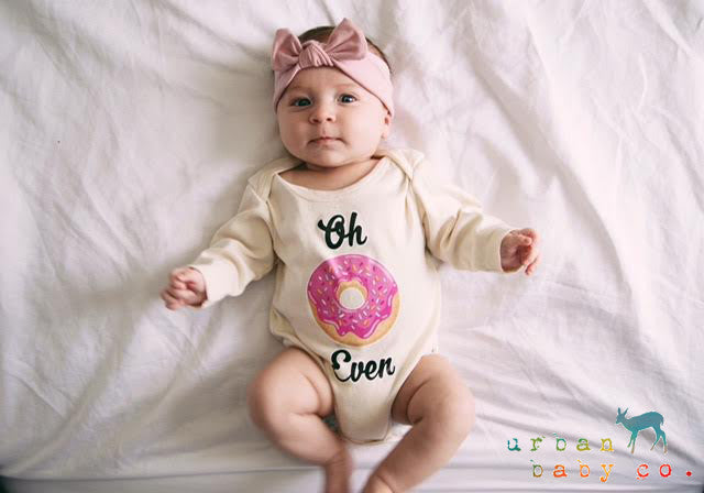 Oh Don T Even Donut Organic Baby Onesie 174 Urban Baby Co