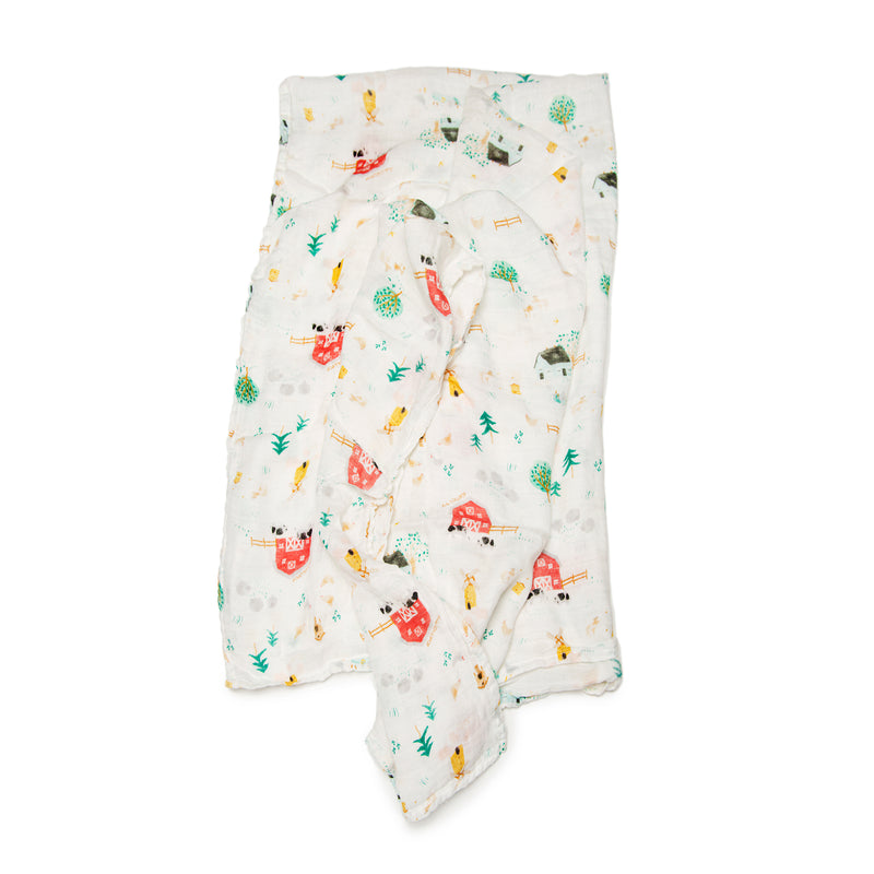 Eco Muslin Swaddle - Farm
