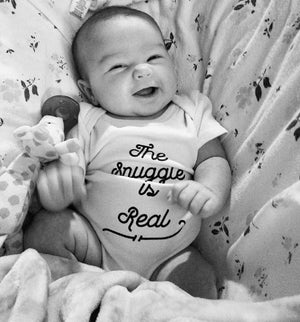 The Snuggle is Real Organic Baby Onesie