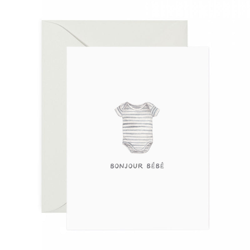 Bonjour New Baby Greeting Card