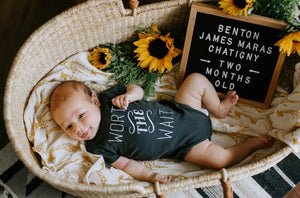 Worth The Wait Organic Baby Bodysuit