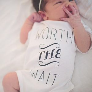 Worth The Wait Organic Baby Onesie