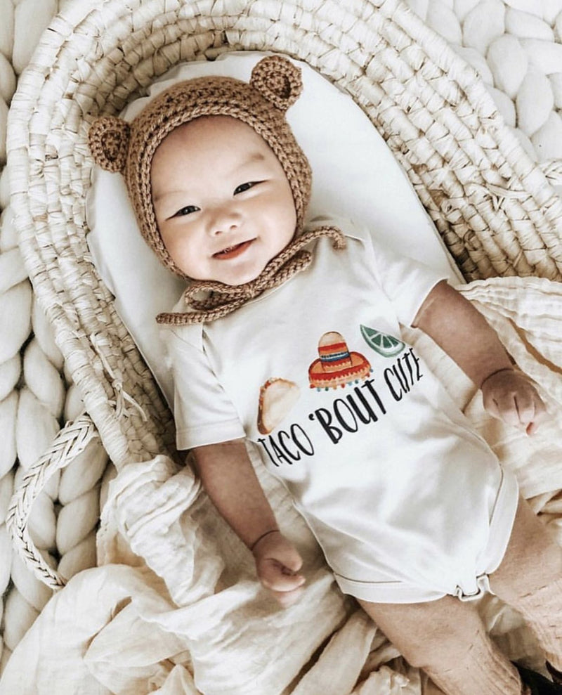 Taco 'Bout Cute Organic Baby Onesie
