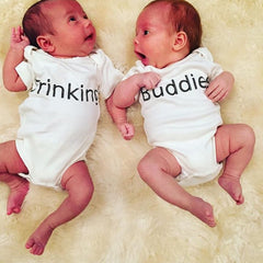 Drinking Buddies, Twins Baby, Baby, Boy, Girl, Unisex, Gender Neutral, Infant, Toddler, Newborn, Organic, Bodysuit, Outfit, One Piece, Onesie®, Onsie®, Tee, Layette, Onezie®