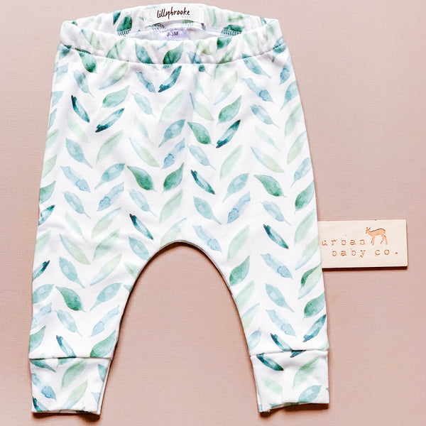 Organic Baby Leaf Herringbone Pants, Leggings