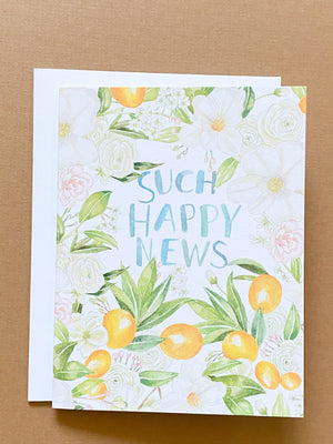 Such Happy News Greeting Card