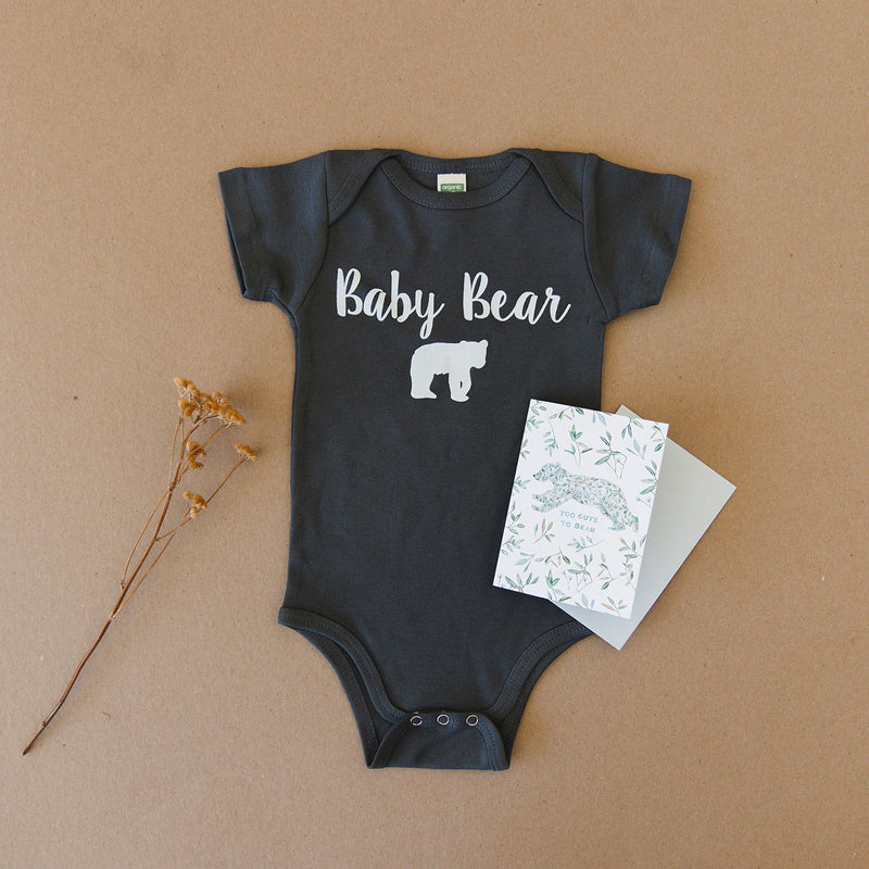 Baby Bear Organic Baby Onesie® & Greeting Card