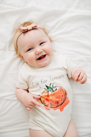 T is for Tomato Organic Baby Onesie