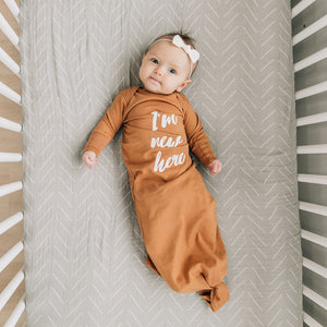 Organic Infant Ginger Gown - I'm New Here