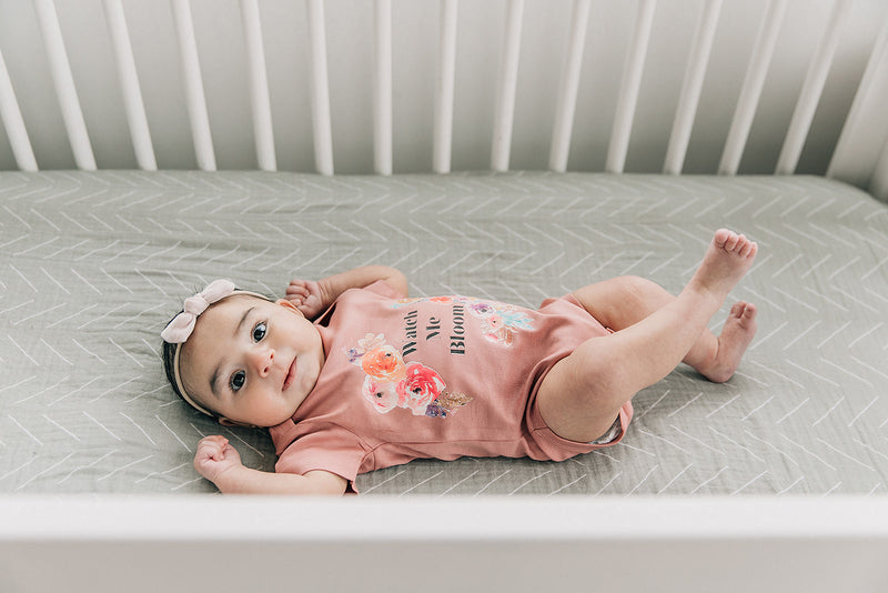Watch Me Bloom Floral Organic Baby Bodysuit