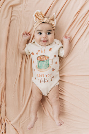I Love You A Latte Coffee Organic Baby Onesie®