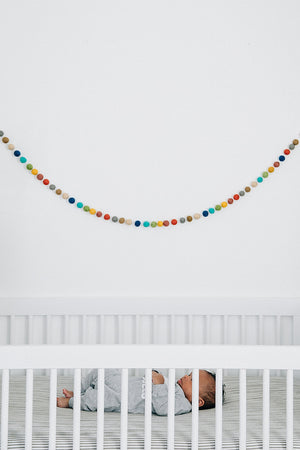 Wool Felt Ball String Garland