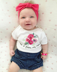 I Got It From My Mama Floral Organic Baby Onesie®