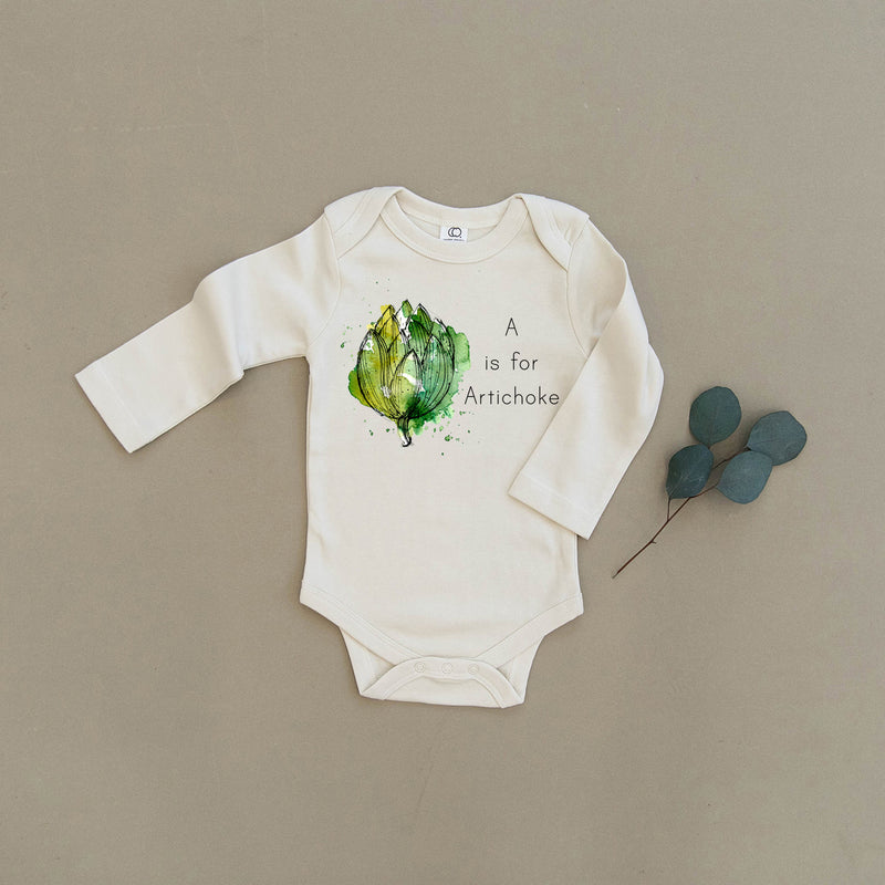 A is for Artichoke Organic Baby Onesie®
