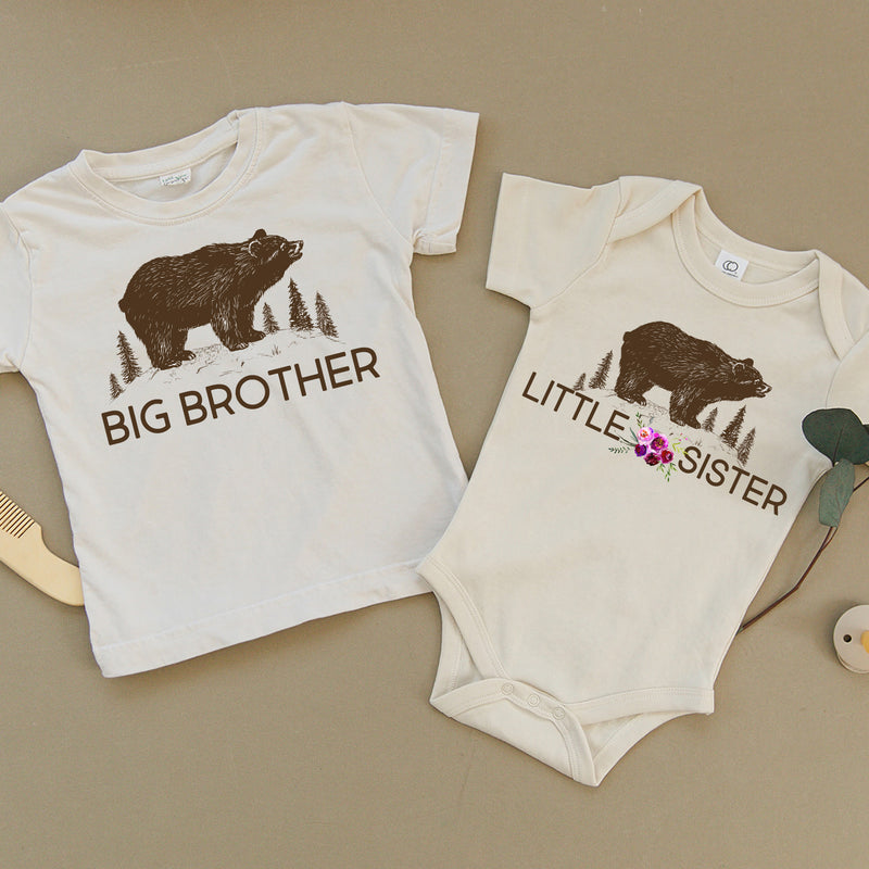 Big Brother Bear & Little Sister Bear Organic Baby Set