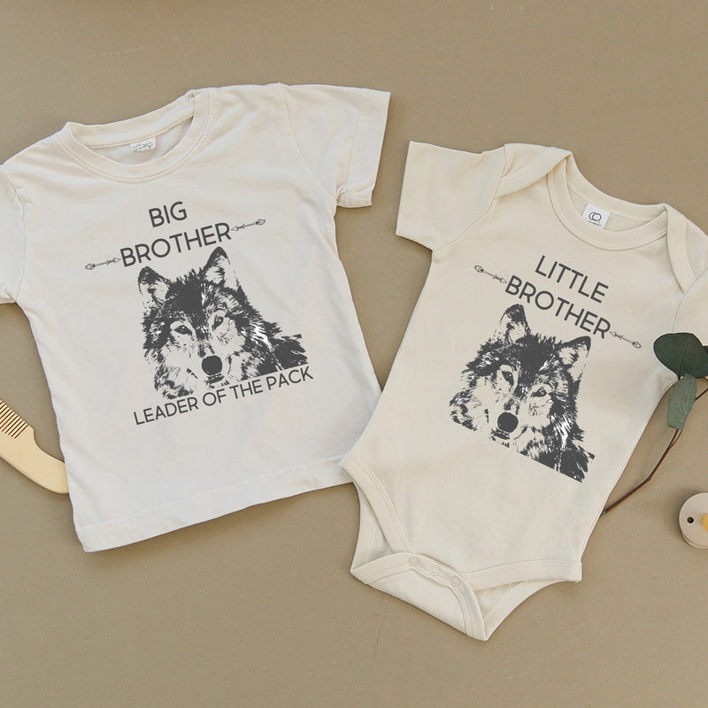 Big Brother Wolf & Little Brother Wolf Organic Baby Set