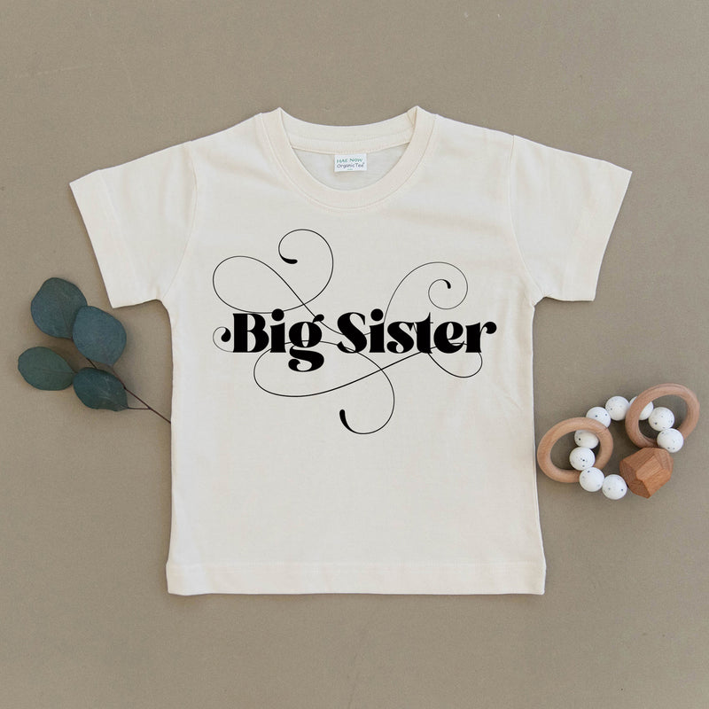 Big Sister Organic Cotton Toddler Tee