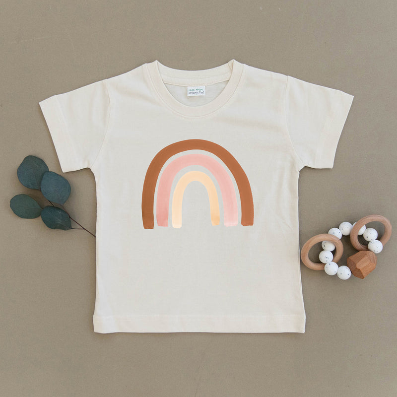 Blush Rainbow Organic Toddler Tee