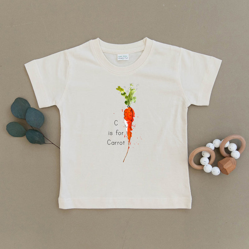 C is for Carrot Organic Toddler Tee