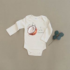 C is for Coconut Organic Baby Onesie®