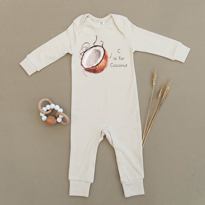C is for Coconut Organic Baby Playsuit