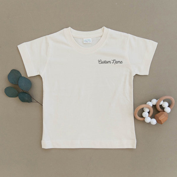 Custom Name Organic Toddler Tee