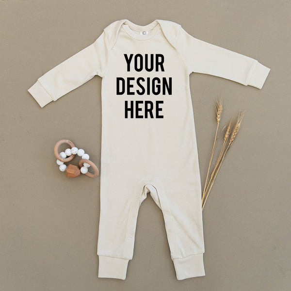 Custom Design Organic Baby Playsuit