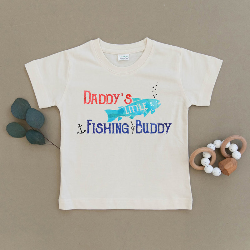 Daddy's Little Fishing Buddy Organic Toddler Tee