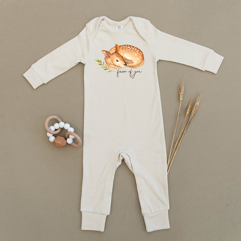 Fawn of You Deer Organic Baby Playsuit