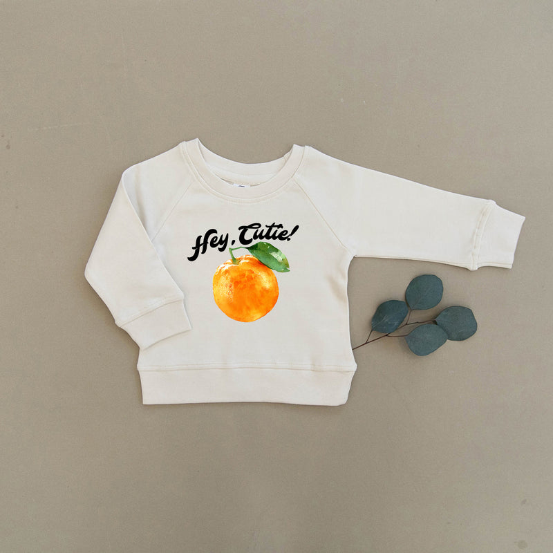 Hey Cutie, Orange, Clementine Organic Baby & Toddler Natural Pullover
