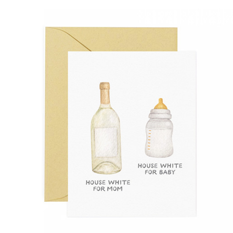 House White For Mom & House White For Baby Greeting Card
